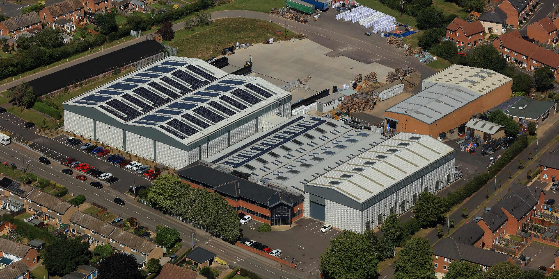 Rutland Plastics aerial view