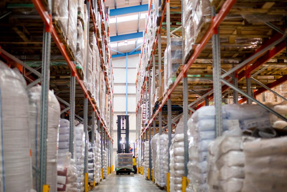 new warehouse aisle