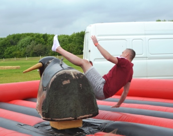 Rutland Plastics birthday celebrations bucking bronco