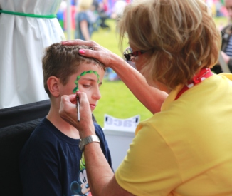 Rutland Plastics birthday celebration face paint