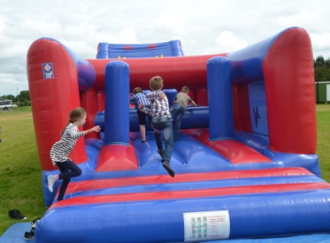 Rutland Plastics birthday celebration bouncy castle