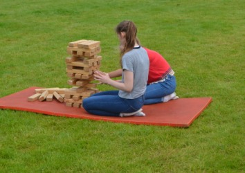 Rutland Plastics birthday celebration giant Jenga