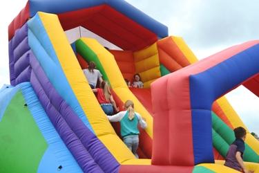 Rutland Plastics birthday celebration slide