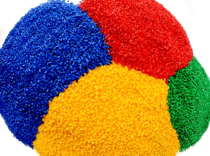 Rutland Plastics multi-coloured polymer granules